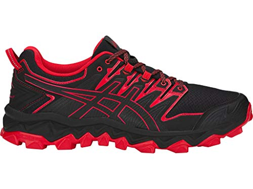 ASICS Zapatillas de correr Gel-Fujitrabuco 7 para hombre, negro (Negro/Rojo Clásico), 48 EU