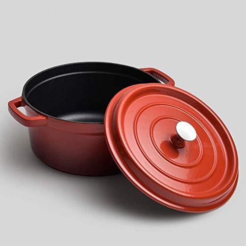 Zuppa di casseruola da forno olandese in ghisa Gradiente con colore Gradiente padella con rivestimento in smalto antiaderente Pentola di dimensioni familiari per fornello a gas a induzione Induzione