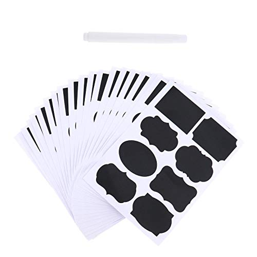 YINETTECH 160 stks Herbruikbare Zwarte Naam Tags Labels Stickers voor Mason Jelly Jars Canisters Kasten Keuken Organiseren