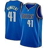 MMK Dirk Nowitzki # 41 Dallas Mavericks Camiseta de Baloncesto, Jerseys para Hombres Retro Chaleco (Color : A, Size : XL)