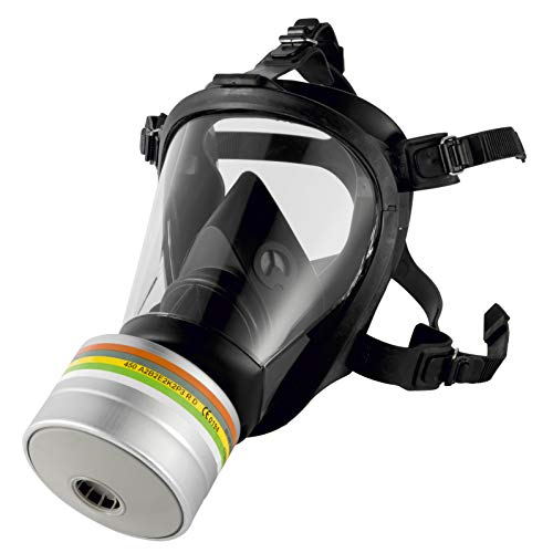 SCHUTZGUT Honeywell Vollmaske Gasmaske mit DIN Gewinde (mit A1B2E2K1HgNOCOP3 Filter)