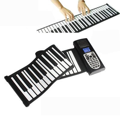 Tasteninstrument Tragbare 49 Standardtasten Roll Up Soft Keyboard Piano ZYS
