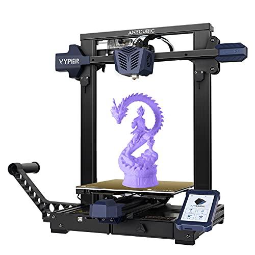 ANYCUBIC Vyper 3D Drucker, FDM 3D Drucker mit Automatischer Nivellierung, mit Magnetischem Druckbett aus Stahl für Federfedern, Extruder mit Doppeltem Getriebe, 245 x 245 x 260 mm
