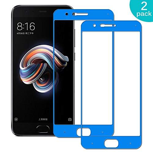 Sangrl [2xPack Vetro Temperato per Xiaomi Mi Note3, [Copertura Completa] [Durezza 9H] [Anti-Graffi] [Alta Definizione] Ultra Resistente Glass Screen Protector - Navy Blu