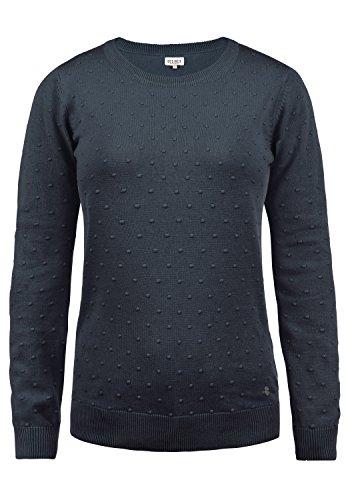 DESIRES Kiki Damen Strickpullover Feinstrick Pullover Mit Rundhals Aus 100% Baumwolle, Größe:M, Farbe:Insignia Blue (1991)