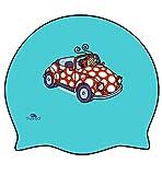 Turbo gorro Natacion MARY by KUKUXUMUSU Silicone Swimming Cap Color Azul