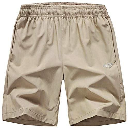 EXEKE Men's Quick Dry Shorts Lightweight Hiking Shorts Gym Workout Shorts Zipper Pockets