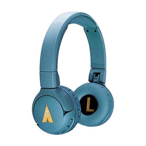 POGS Kinderkoptelefoon Bluetooth - The Gecko, Opvouwbare Oortelefoon met oorbescherming voor kinderen, Music Sharing Functie, Draadloze (blauw)