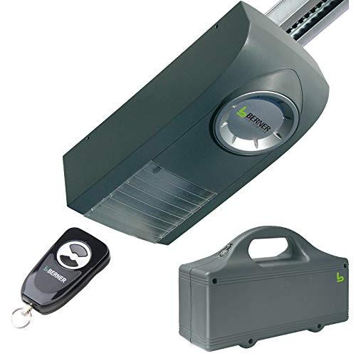 Berner Garagentorantrieb GA101 Akkubetrieb Optional auch mit Solarpanel (GA101 mit Akku und K-Schiene)