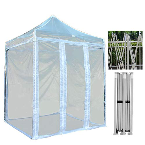 GDMING Transparent Pop Up Gazebo With 4 Sides, Waterproof & Anti-UV Canopy Awning, Party Tent With High-strength Steel Frame,Easy To Assemble Sun Shade, 6 Sizes (Color : Clear, Size : 3x3m)