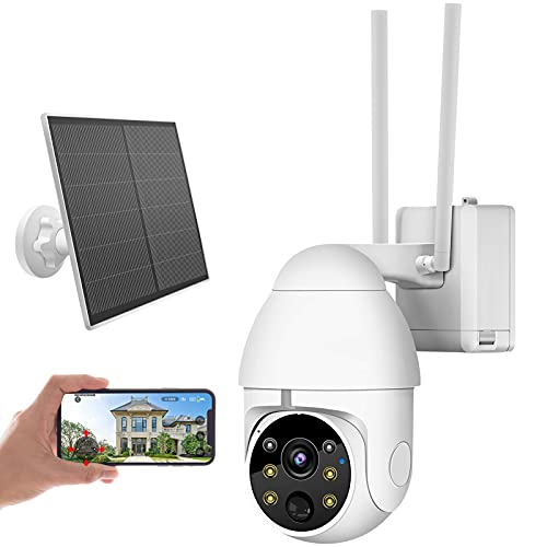 URVOLAX Telecamera WiFi Esterno,1080P Videocamere di Sorveglianza con batteria ricaricabile,IP Telecamera Visione Notturna a Colori,Audio Bidirezionale,IP 65 Impermeabile
