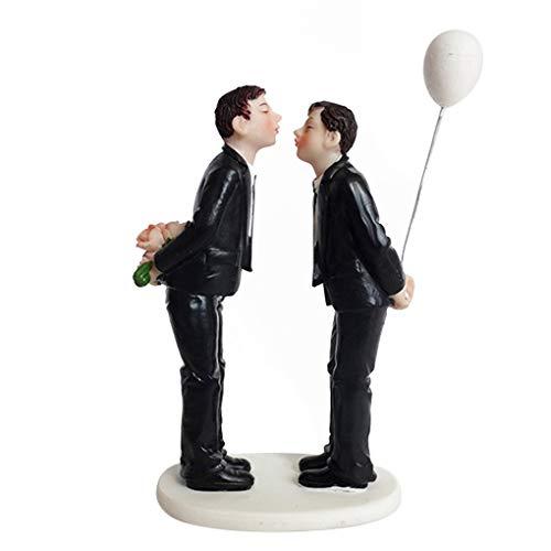 Hotaluyt Figura de Resina de la Torta Pareja Pareja Pastel de Bodas Regalo de Boda Topper Gay