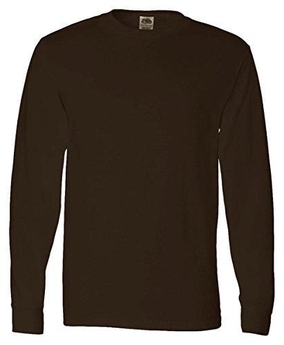 Fruit of the Loom 5 oz., 100% Heavy Cotton HD T-Shirt, XL, CHOCOLATE