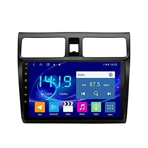 Gndy Car Stereo Android 9.1 Car Stereo GPS Navigation para Suzuki Swift 2004-2010 Pantalla Táctil De 9 Pulgadas Soporte WiFi 4.0 Bluetooth Control del Volante