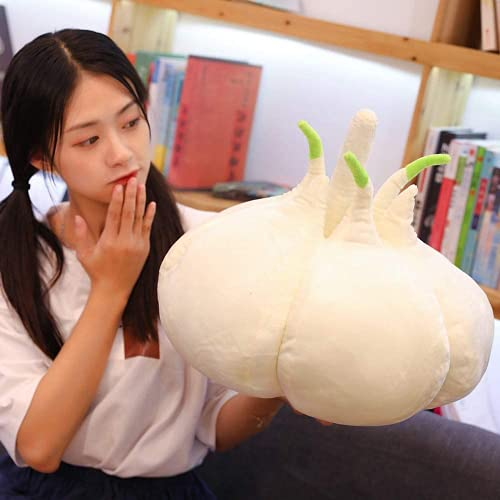 Kpcxdp Juguetes de Peluche 1pc 40 cm Vegetales Ajo de la Placa de Felpa Planta Creativa Ajo de la Almohada del niño Muñeca Decoración del hogar Decoración Divertido