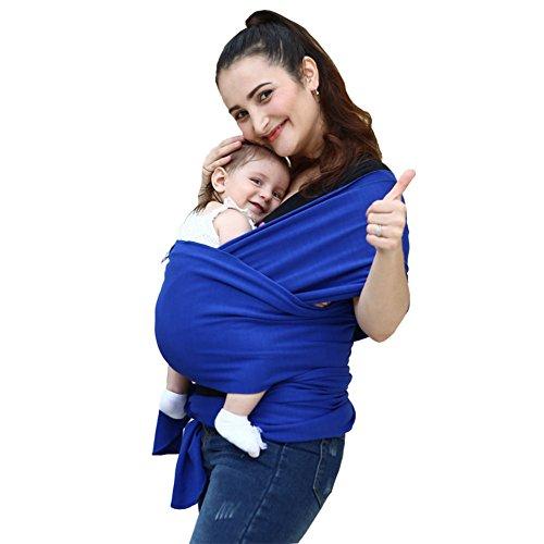 MissChild Echarpe de Portage des Bébés,Sac à dos Porte Bébé Multifonctionnel, Sling Carrier pour Baby Bleu