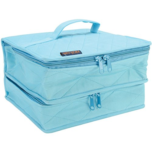 Yazzii The Double Deluxe Quilted Cotton Organizer, Aqua