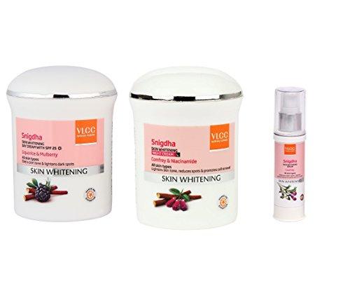 VLCC Snigdha Skin Whitening Pack of 3 (Night, Day Cream & Serum) with Ayur Product in Combo