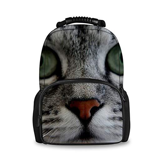 Fhdc Rugzak dier 3D kat druk rugzak voor vrouwen reis laptop vrouwelijk vilt rugzakken grote capaciteit dagelijks pakzak