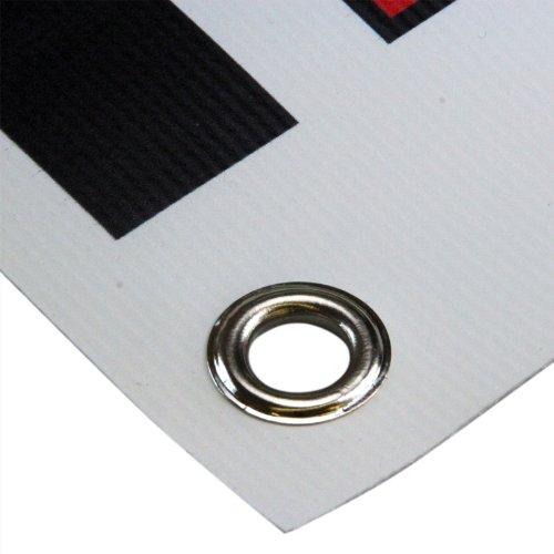 KDS PVC Banner Werbebanner von Ihrer Datei 2 x 1 Meter inklusive Druck und Ösen