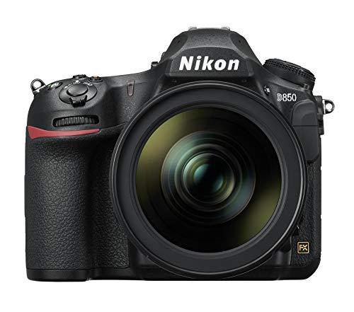 Nikon D850 SD1 - Cámara Digital de 45.7 MP (LCD de 3.2'', 4K UHD, 153 Puntos de Enfoque, 9 FPS) Negro - Kit Cuerpo con Objetivo Nikkor AFS 24-120 mm F/4G