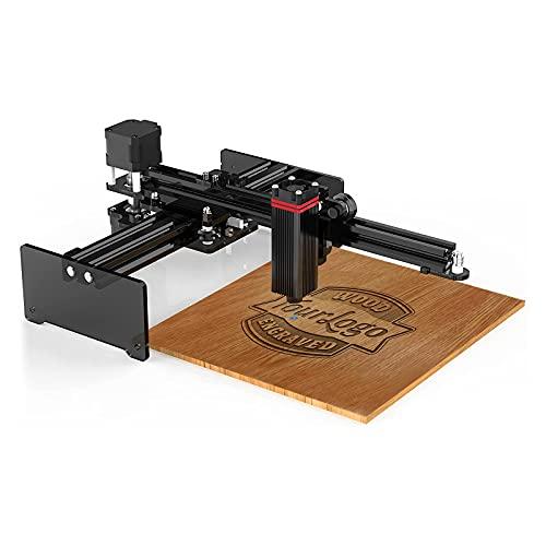 Oakeroo 20W Máquina de Grabado Láser, Grabador Láser para Madera y Metal, 170 x 170 mm Mini Impresora de Marcado de Logotipos de con Control Inalámbrico de Aplicaciones, LaserGRBL, LightBurn