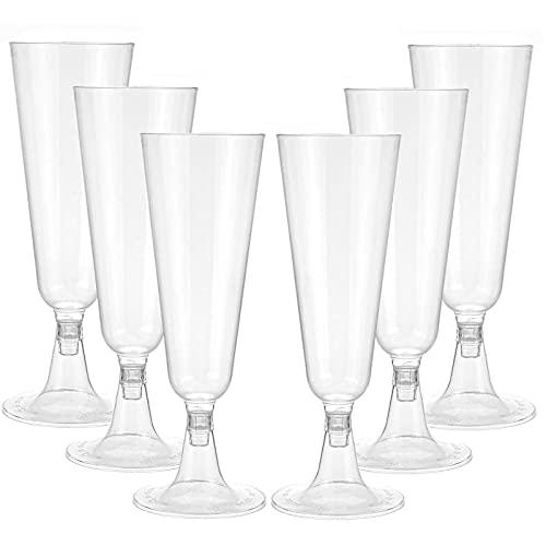 YAIKOAI 12 Pieces Plastic Champagne Flutes