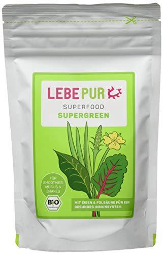 Lebepur Smoothiepulver Supergreen - 6 Standbeutel à, 600 g