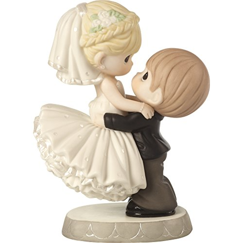 Precious Moments 172007 Best Day Ever Bride & Groom Bisque Porcelain Figurine & Wedding Cake Topper