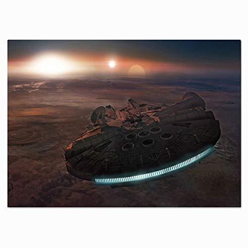 STTYE Millenium Falcon Star Wars Wandkunst, Millenium Falcon Star Wars, Leinwanddruck, Wanddekoration, 91,4 x 61 cm, ungerahmt