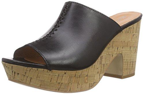 Marc O'Polo Wedge Sandal, Damen Plateau Sandalen, Schwarz (black 990), 42 EU
