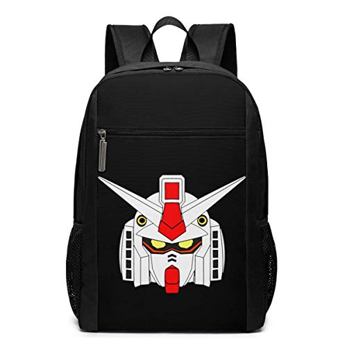 Lawenp Gundam RX 78 2 Amuro Ray Mask Backpack 17 Inch Laptop Bags College School Backpack Casual Daypack for Travel