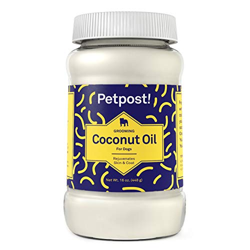 Petpost | Coconut Oil - Hot Spot & Itchy, Dry Skin Moisturizer for Dogs - 100% Virgin Coconut Oil for Skin and Coat - 16 Oz.