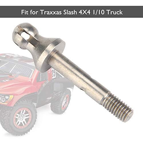 Dilwe RC Truck CVD Achse, Metall RC Front / Rear CVD Achse für Traxxas Slash 4X4 1/10 LKW-Fernsteuerungsautokomponente(Hinten-Silber)