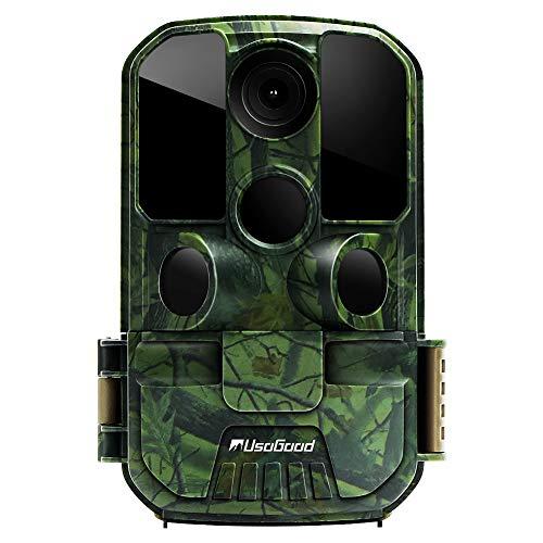 Usogood 20MP Wildkamera mit Bewegungsmelder 1080P Nachtsicht 20m mit 2.4' LCD Bildschrim IP66 wasserdichtes gehäuse für Jagd und Heimüberwachung fotofalle