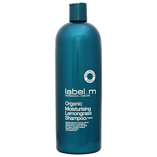 Label M Organic Moisturising Lemongrass Shampoo (Calming Daily Hair Cleanser For All Hair Types) 1000ml