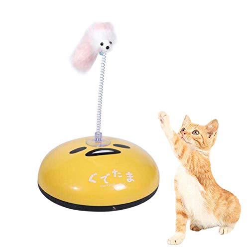FXQIN Elektrisch roboterstaubsauger Haustier-Spielzeug, lustiger Katzen-ausgedehnter Roboter, automatisches Roboter-Staubsauger-Katzen-Teaser-Spielzeug, gelb