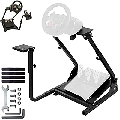 Minneer Racing Wheel Stand Pro for Logitech G25 G27 G29 G920 Driving Simulator Cockpit Racing Wheel Shifter and Pedals NOT Included (G920)