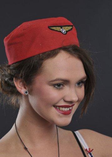 Chariot rouge Dolly Air hôtesse de bord chapeau