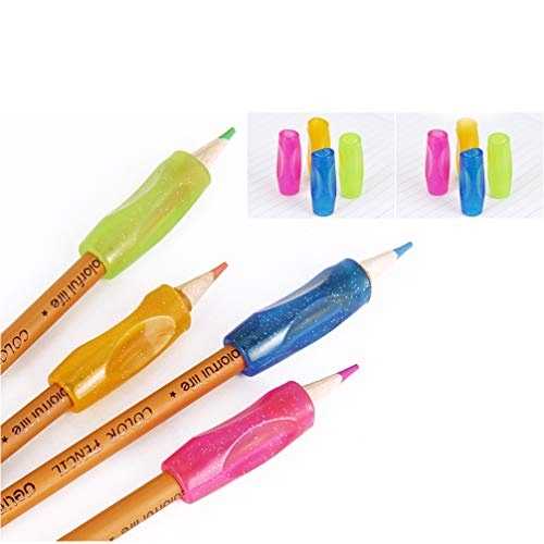 DoGeek Ergonomische Schreibhilfen für Stifte Silikon Stift Griffe Griffhalter Bleistift Grips Stiftehalter(8 Pack, 8 Pack)