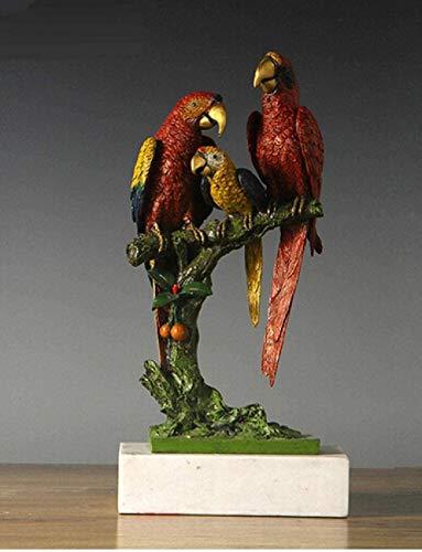 Escultura,Estatua Adornos Esculturas Decoración De Cobre Buda Latón Estatua De Bronce para El Hogar Feng Shui Lucky Bird Fauna De La Escultura Regalo