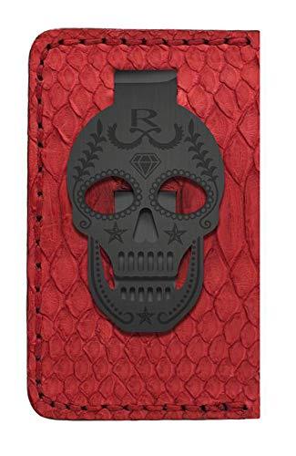 Skull Money Clip Card Holder (Red/Black)