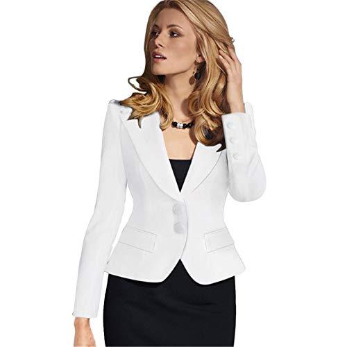 Generic Andongnywell Womens Casual Work Office Blazer Open Front Long Sleeve Cardigan Jacket Plus Size Blazers Jacket Overcoats (White,XX-Large),XX-Large