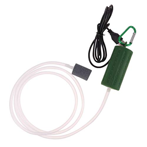Balacoo USB Aquarium luftpumpe-Aquarium luftpumpe Ultra leise energiesparende sauerstoffluftpumpe Aquarium für aquarien mit luftstein und silikonschlauch-grün