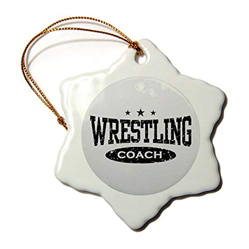 Jeartyca Novelty Decoration Wrestling Coach Christmas Ornaments Ceramic Star Christmas Tree Hanging Keepsake 3 Inches Both Sides