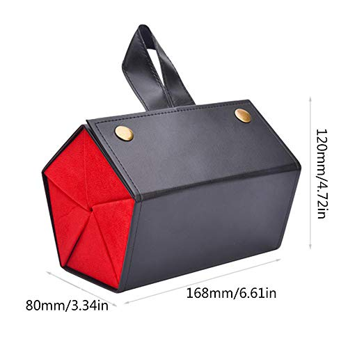 Sunglasses Case, Women 5 Storage Space Sunglasses Tray Fashion Pu Leather Roll Eyeglasses Case for Glasses Storing Display Holder Sunglasses Organizer