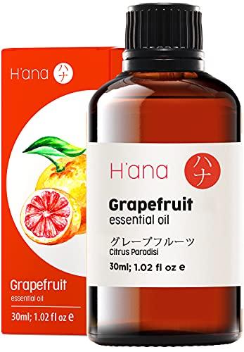 Hana Aceite Esencial de Pomelo para Energía - Natural Aceite de Pomelo para el Cabello - 100 Puro Aceites Esenciales para Difusor Aromaterapia - 30ml