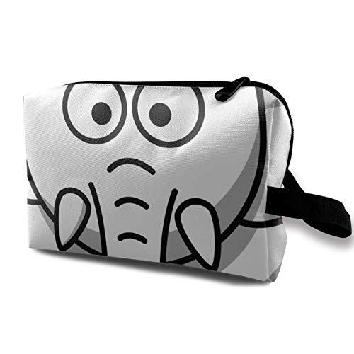 zmzm Organizador de Bolsas de cosméticosBlack and White Elephant Cosmetic Bag Makeup Bags For Women Travel Makeup Bags Roomy Toiletry Bag Accessories Organizer with Zipper