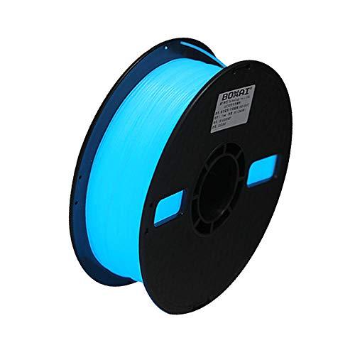 PLA Luminous 3D Filament 1kg, 3D Printing Filament 1.75mm, for 3d Printer and 3d Pen-Luminous Blue