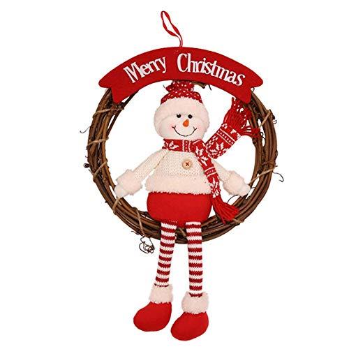 Kerstversieringen Mooie leeftijd man sneeuwman Elk pop rotankrans hanger geschenk decoratie geschikt voor kerstboom thuis commerciële ramen A